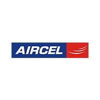 Aircel company logo with white background