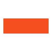 Dishtv logo in orange color with grey background