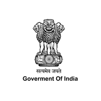 Government of india Logo in black outlining along with grey background