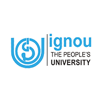 Ignou the people's University logo in sky blue color