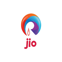 Jio telecome industry logo with grey background
