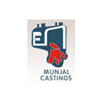 Munjal castings logo with Grey Backgrounds
