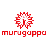 Murugappa written in red color along with the logo