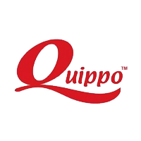 Quippo written in red color with white color