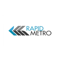 Rapid Metro Logo with grey background
