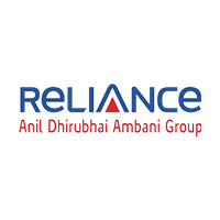 Reliance Logo in blue color with Anil Dhirubhai Ambani group written in red