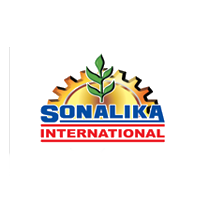 Sonalika International logo with grey background