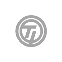 TJ Company logo in grey colour with white background