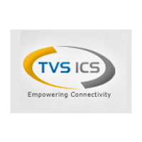 TVS ICS logo with grey in the background