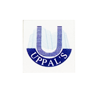 Uppals logo in Purple Color, with grey background