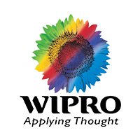 Wipro logo along with tagline applying thought