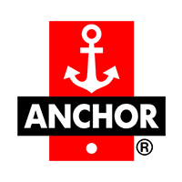 Anchor written in white with black background