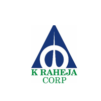 k Raheja corp logo in Blue and green color