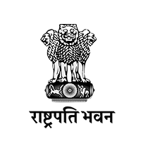 President house logo with black outlines and Grey background